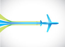 Airplane and lines illustration design Royalty Free Stock Image