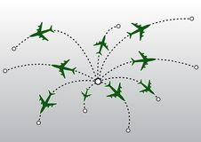 Airplane lines VECTOR. Airplane lines. This image is a  illustration and can be scaled to any size without loss of resolution Stock Photos
