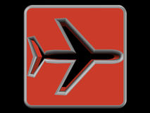 Airplane logo Royalty Free Stock Photos