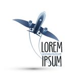 Airplane. Logo, icon, emblem, template Stock Image