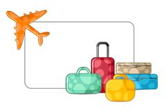 Airplane with Luggage Royalty Free Stock Photography