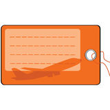Airplane luggage tag Stock Photos