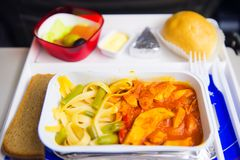 Airplane lunch Royalty Free Stock Photography
