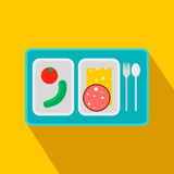 Airplane lunch flat icon Royalty Free Stock Image