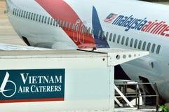 Airplane maintenance and supply in Saigon Airport Stock Photos
