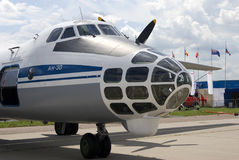 Airplane AN-30 at MAKS International Aerospace Salon MAKS-2017 Stock Photography
