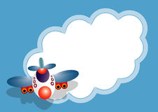 Airplane message card Royalty Free Stock Photos