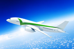 Airplane mid in the air Royalty Free Stock Photos