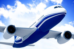 Airplane in Mid Air. 3D generated airplane in mid air royalty free stock images