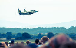 Airplane Mig-29 Fulcrum Royalty Free Stock Photography