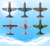 Airplane in military design. Illustration Royalty Free Stock Photos