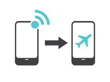 Airplane mode - flight mode Stock Images