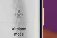 Airplane mode icon Stock Photography