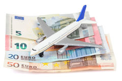 Airplane with money Stock Images