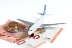 Airplane money Stock Photo