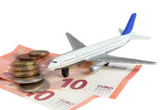 Airplane money Royalty Free Stock Photography