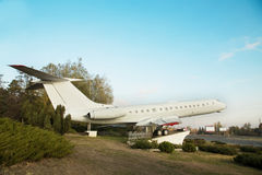 Airplane monument in Chisinau Stock Image