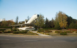 Airplane monument in Chisinau Stock Images