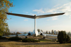 Airplane monument in Chisinau Royalty Free Stock Image