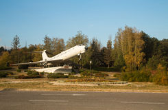 Airplane monument in Chisinau Royalty Free Stock Photo