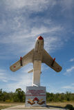 Airplane. Monument to the plane of the Second World War on the side of the river Stock Image