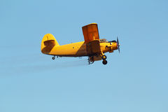 Airplane mosquito spraying equipment Stock Photos