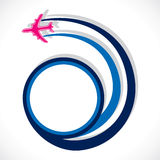 Airplane move in round shape Stock Photos