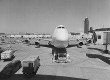 Airplane at Narita Airport in Japan Royalty Free Stock Photo