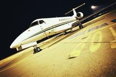 Airplane night light Stock Photos