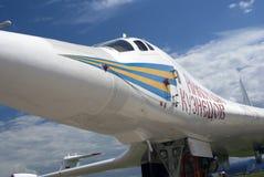 Airplane Nikolay Kuznetsov at MAKS International Aerospace Salon MAKS-2017 Stock Images