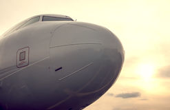 Airplane nose, close up Stock Image