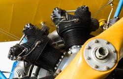 Airplane Nose Engine Cylinders Vintage Transport Stock Image