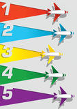 Airplane numbering Royalty Free Stock Image