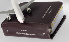 Airplane operations manual Royalty Free Stock Image