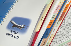 Airplane operations manual Stock Images
