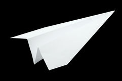 Airplane origami, folding paper in airplane shape Royalty Free Stock Images