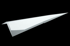 Airplane origami, folding paper in airplane shape Stock Image