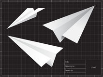 Airplane origami Royalty Free Stock Images