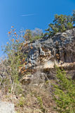 Airplane over Hamilton Pool Royalty Free Stock Images