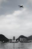 Airplane over Rio de Janeiro Stock Image