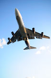 Airplane overhead Royalty Free Stock Photo