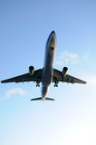Airplane overhead Royalty Free Stock Image