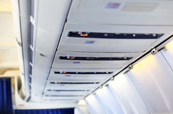 Airplane overhead panel Royalty Free Stock Image