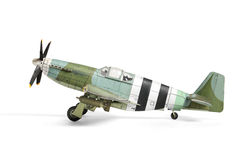 Airplane paper model. Royalty Free Stock Photo