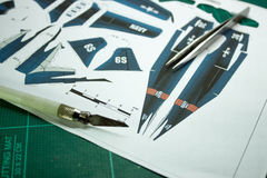 Airplane Papercraft Stock Photos