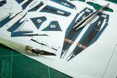 Airplane Papercraft Stock Photos