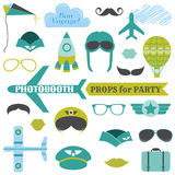 Airplane Party set - photobooth props Royalty Free Stock Photos