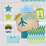 Airplane Party Set Royalty Free Stock Images