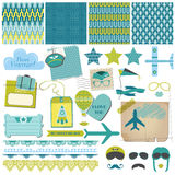 Airplane Party Set Stock Image