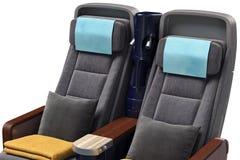 Airplane passenger seats, close view Stock Image